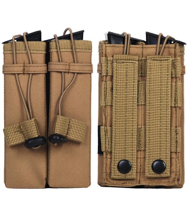 Molle pouch side arm 2 magazines #C Zandkleur