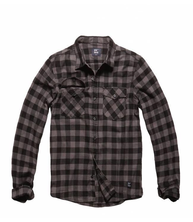 Vintage Industries Harley shirt geruite blouse grey check