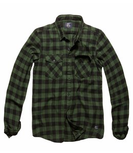 Vintage Industries Harley shirt geruite blouse Green check