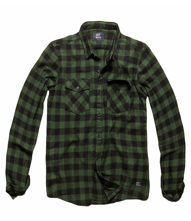 Vintage Industries Harley shirt geruite blouse Green check
