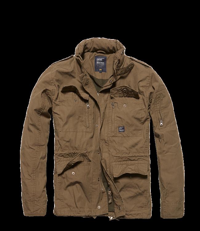 Vintage Industries Cranford jacket zomerjas dark khaki