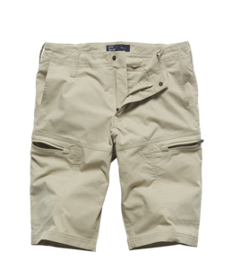 Vintage Industries Beltana technical short beige