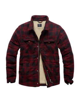 Vintage Industries Class sherpa red check