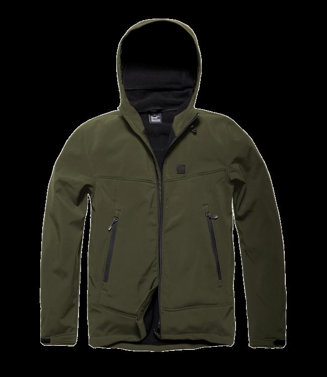 Vintage Industries Alford softshell jacket dark olive