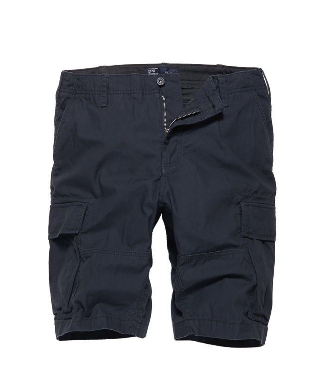 Vintage Industries Kirby shorts navy blue