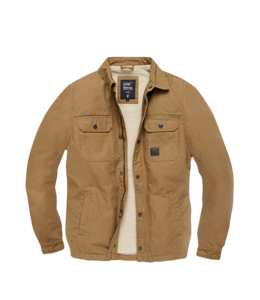 Vintage Industries Dean sherpa dark tan