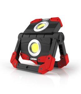 NEBO Omni 2K Work Light: 2000 Lumen Omni-Directional Portable Worklight Flashlight met USB Power Bank