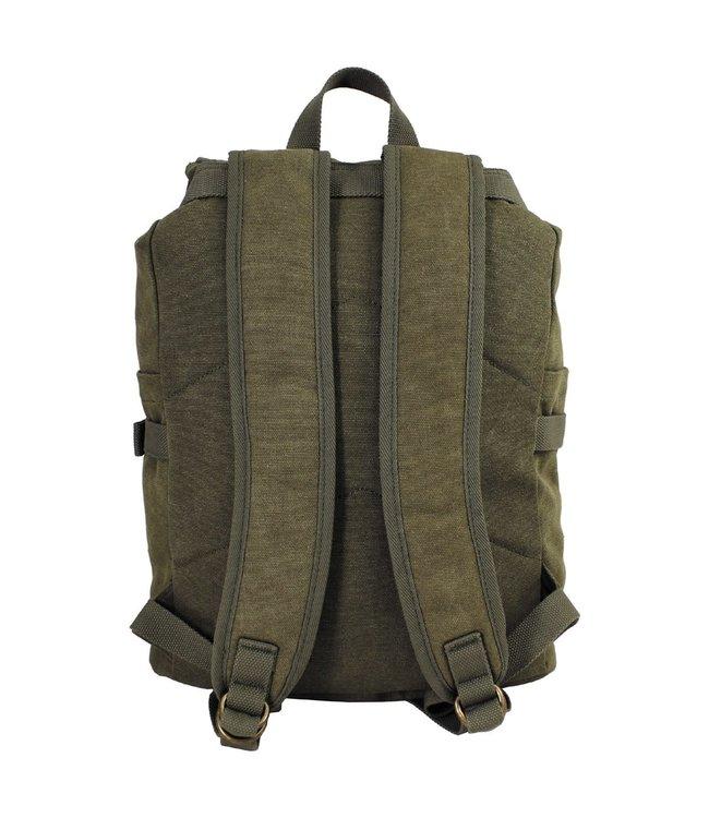 "Backpack, canvas, ""PT"", OD green"