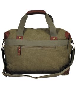 """Bag, canvas, """"PT"""", OD green, with shoulder strap"""