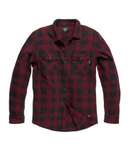 Vintage Industries Globe heavyweight shirt red check