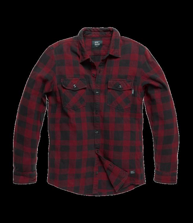 Vintage Industries Globe heavyweight shirt red check
