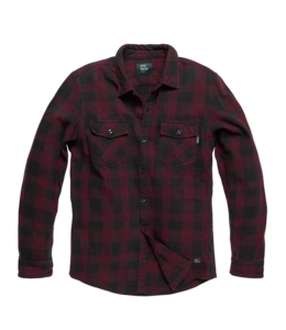Vintage Industries Globe heavyweight shirt Burgundy check