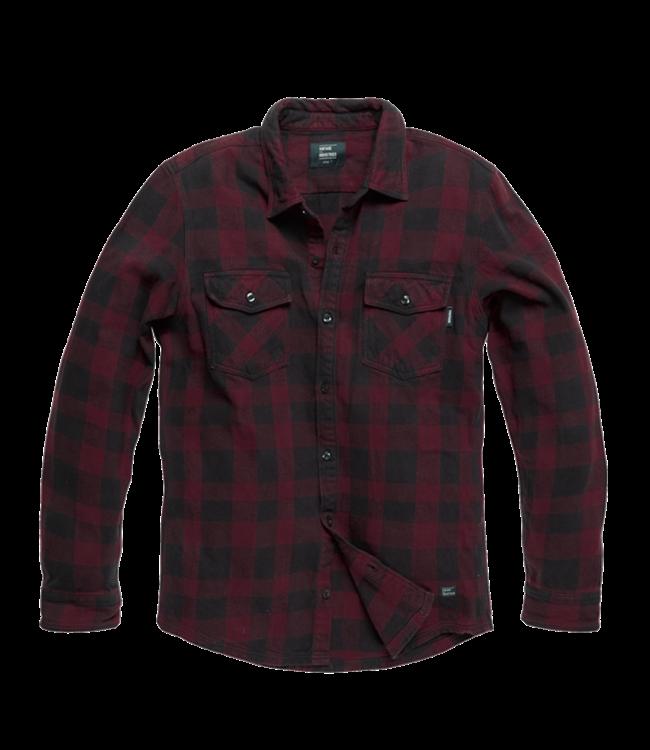 Vintage Industries Globe heavyweight shirt Burgundy check