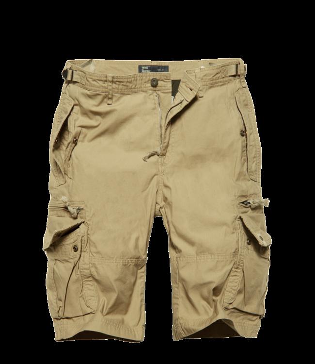 Vintage Industries Gandor Shorts Korte broek Sand