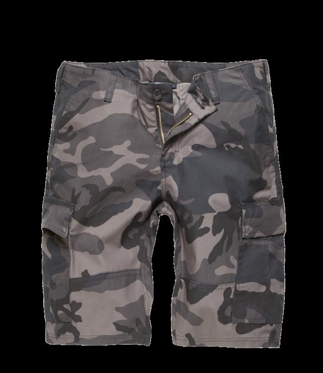 Vintage Industries BDU T/C shorts Korte broek dark camo