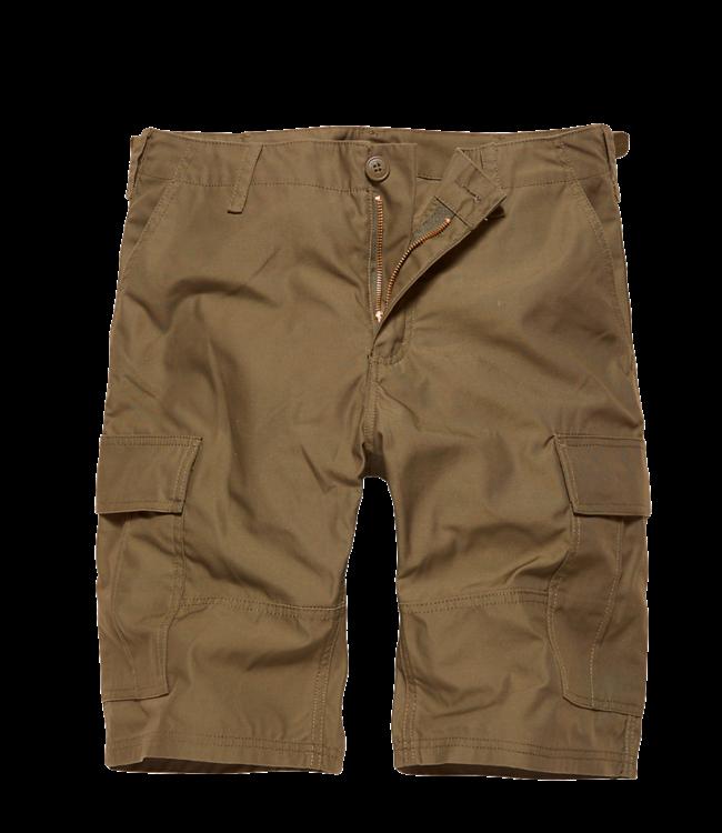 Vintage Industries BDU T/C shorts Korte broek dark khaki