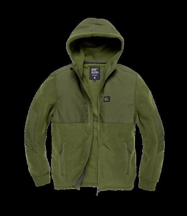 Vintage Industries Landell polar fleece jacket olive