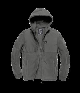 Vintage Industries Landell polar fleece jacket stone