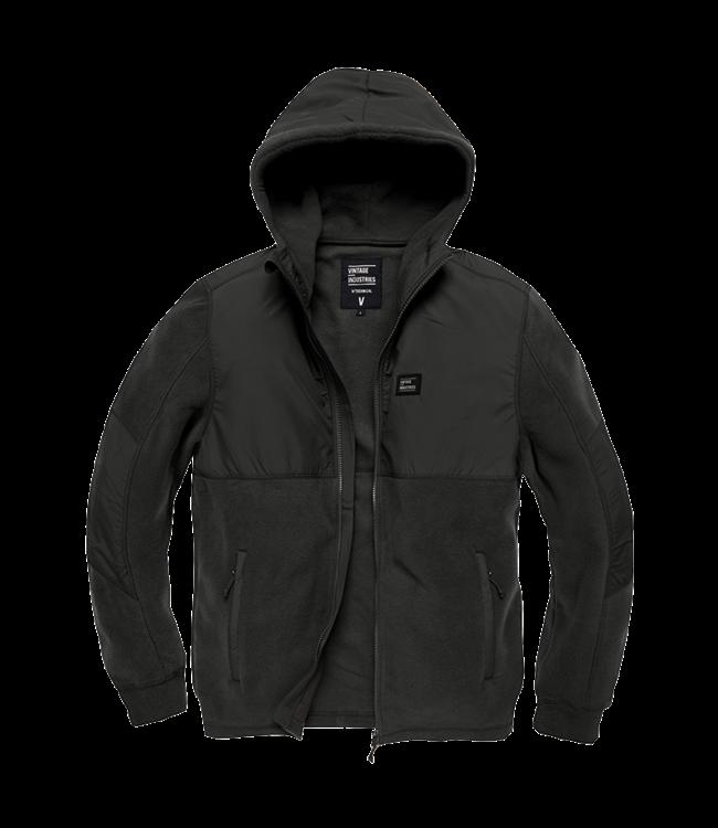 Vintage Industries Landell polar fleece jacket black