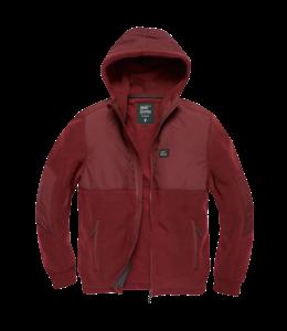 Vintage Industries Landell polar fleece jacket burgundy