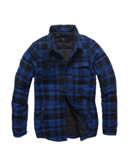 Vintage Industries Square padded shirt Blue check
