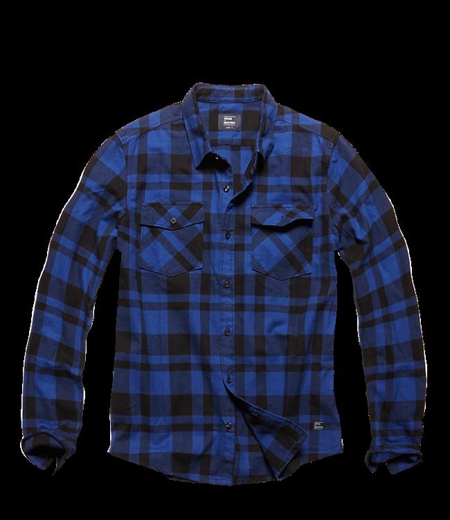 Vintage Industries Austin shirt geruite blouse Blue check