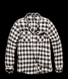 Vintage Industries Harley shirt geruite blouse white check