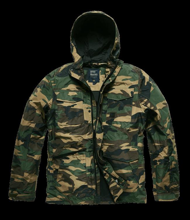 Vintage Industries Levin jacket woodland camo