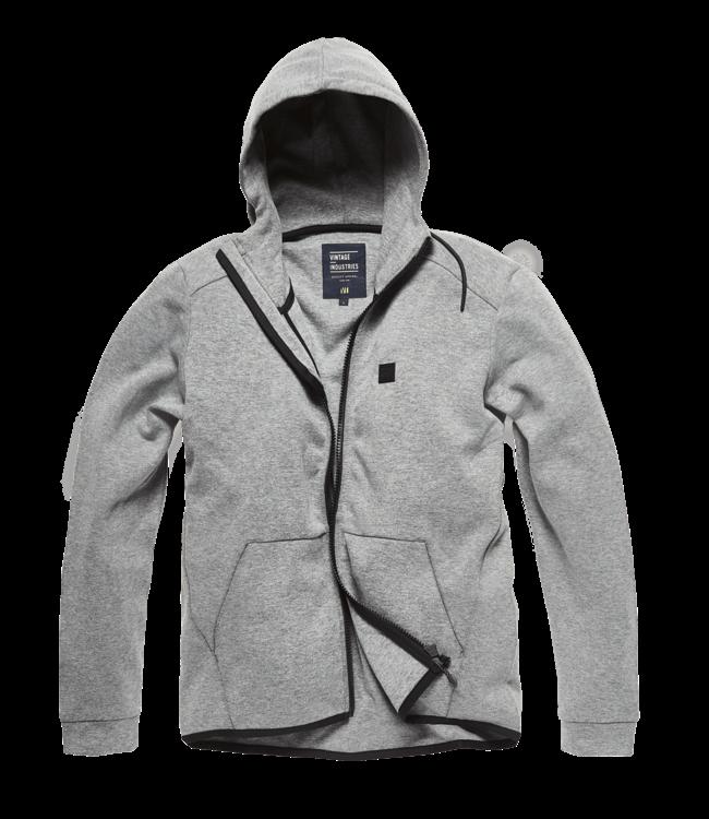 Vintage Industries Albury hooded sweatshirt charcoal