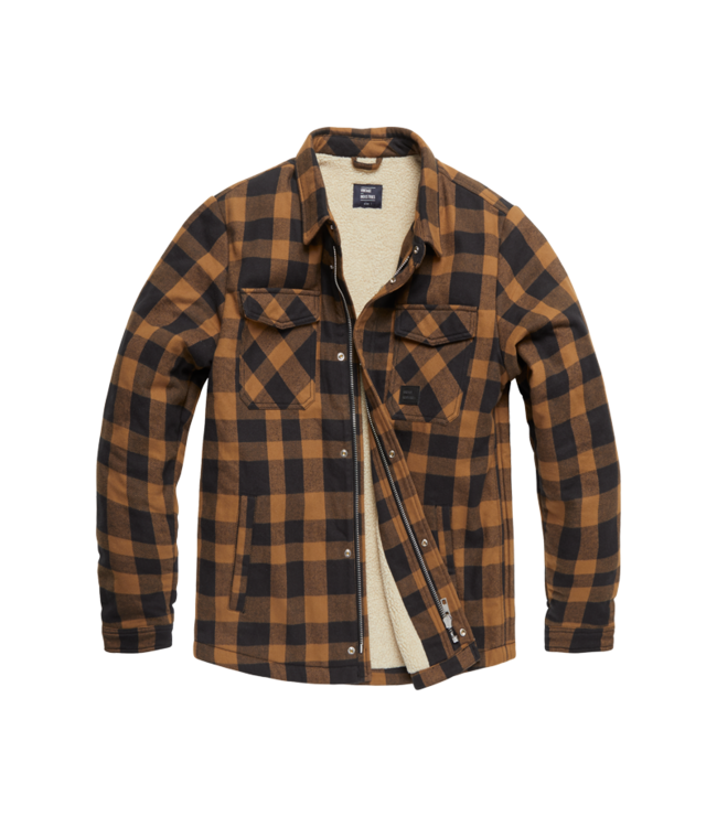Vintage Industries Craft heavyweight sherpa Yellow check