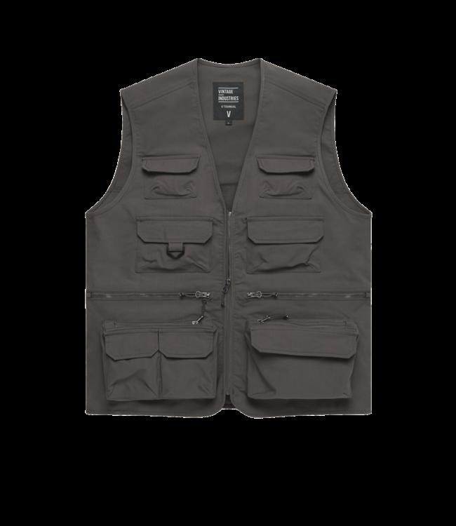 Vintage Industries Legend fishing vest taupe