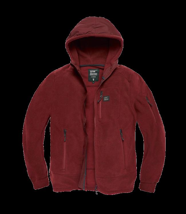 Vintage Industries Lanford polar fleece jacket burgundy