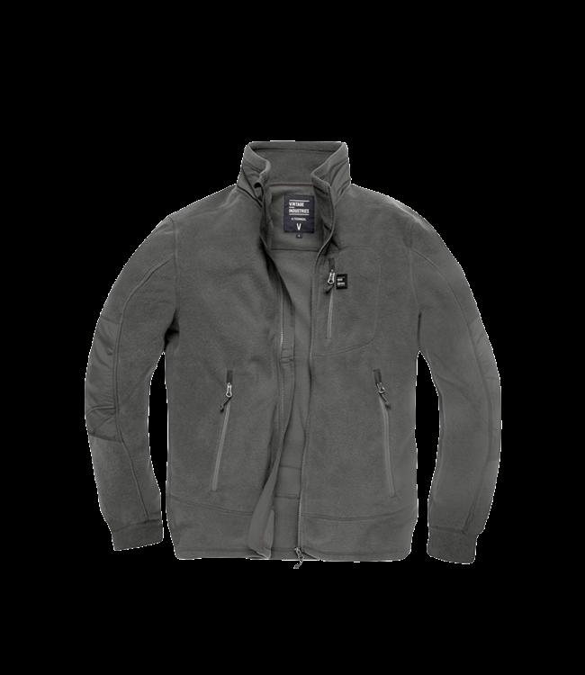 Vintage Industries Tour polar fleece jacket stone