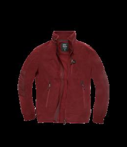 Vintage Industries Tour polar fleece jacket burgundy