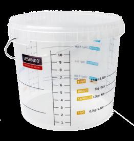 LESANDO 10 Liter Skala-Eimer