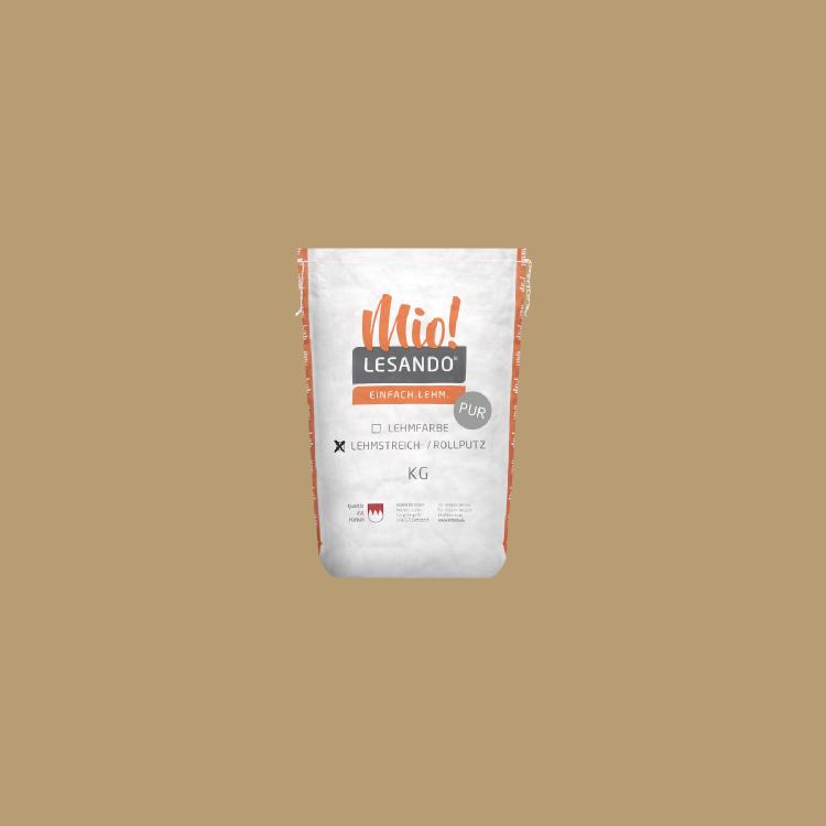 LESANDO Mio! Lehmstreich-/rollputz PUR Caffè Creme