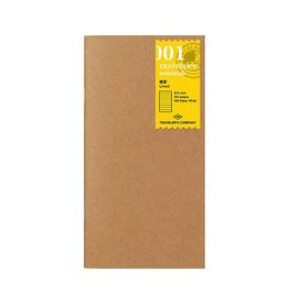 Traveler's Company 001. LINED REFILL MIDORI TRAVELER'S NOTEBOOK