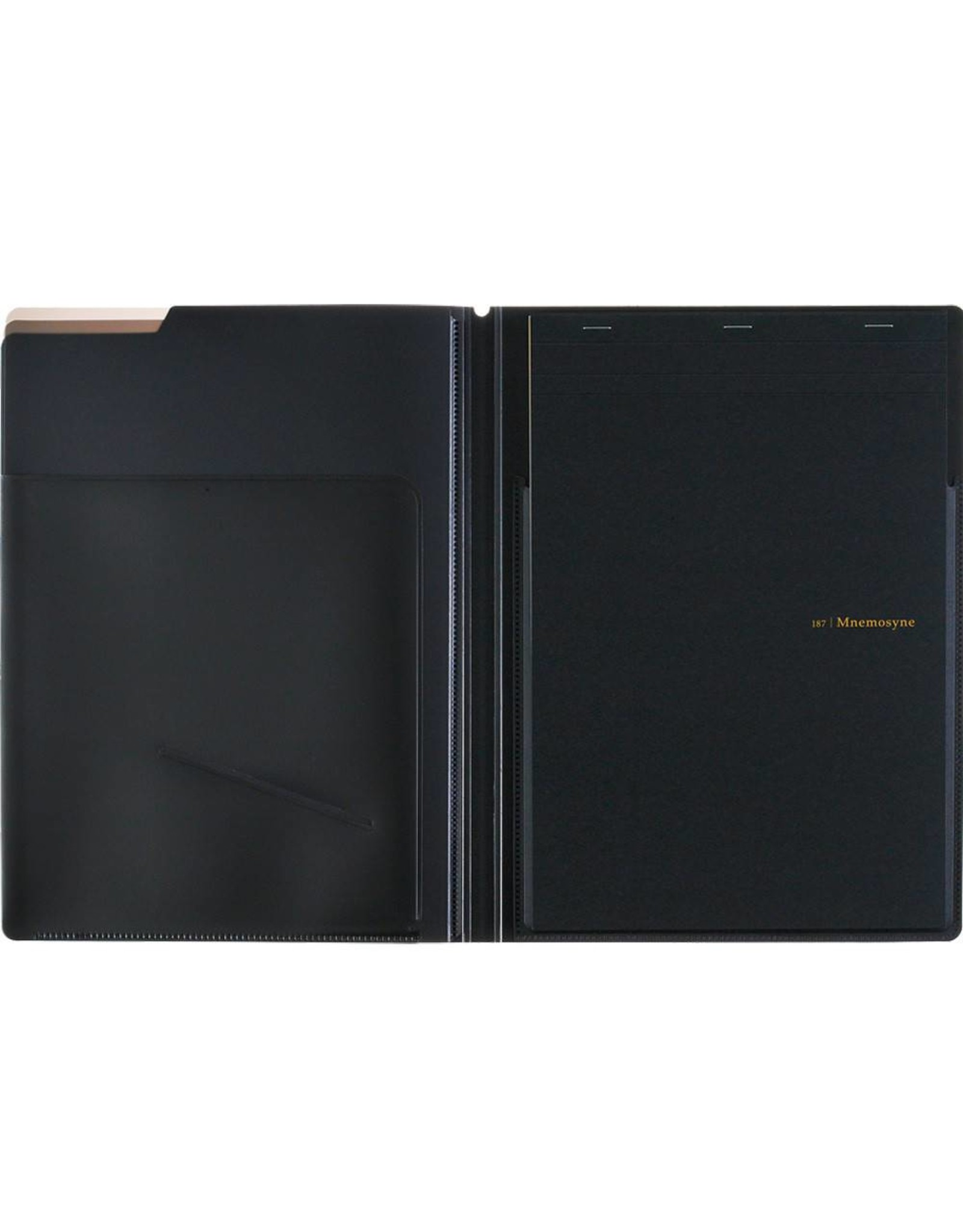 MARUMAN MNEMOSYNE NOTEPAD AND HOLDER WITH 5 POCKETS A4