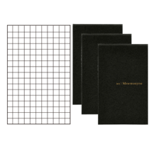 MARUMAN - N164 MNEMOSYNE MEMO 5MM SQUARED CARD SIZE 86X54MM PACK OF 3