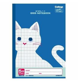 Kyokuto Associates co., ltd. COLLEGE ANIMAL NOTEBOOK GRID B5 BLUE CAT