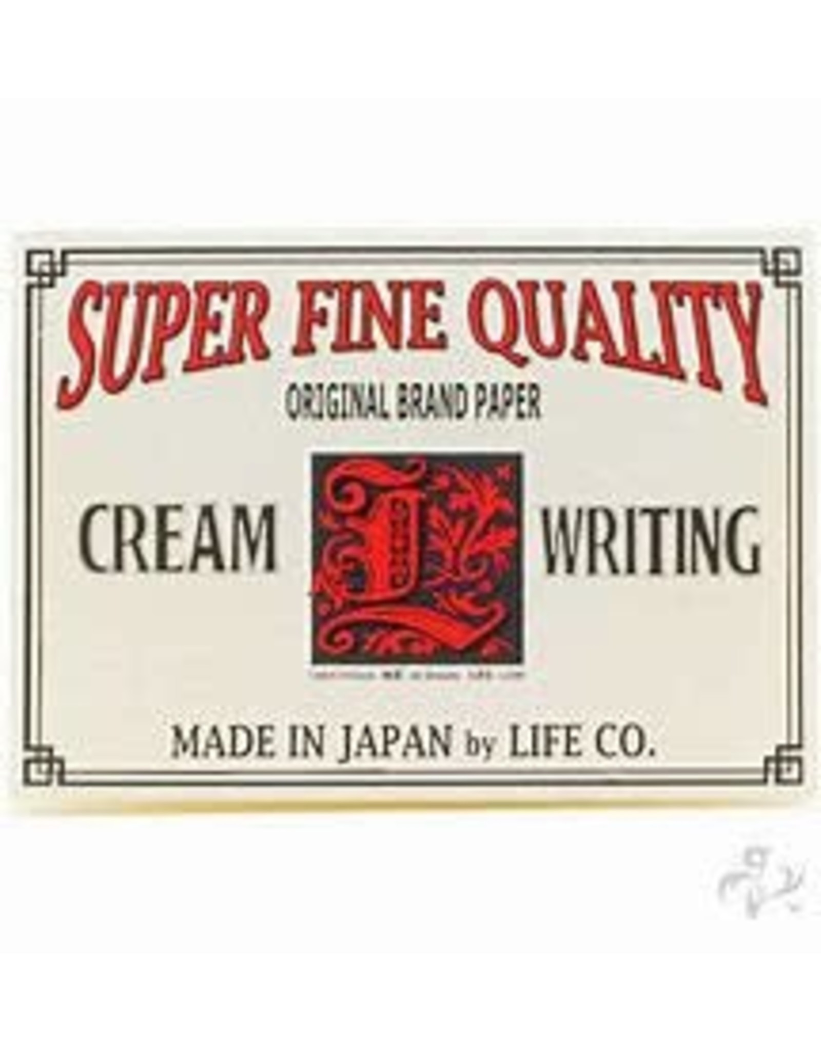 LIFE CO.,LTD. L BRAND LABEL LETTER PAD A5 CREAM LINED 148MM X 210MM