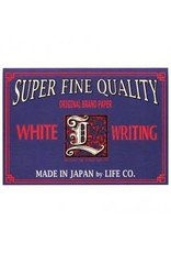 LIFE CO.,LTD. L BRAND LABEL LETTER PAD A5 WHITE GRID 148MM X 210MM