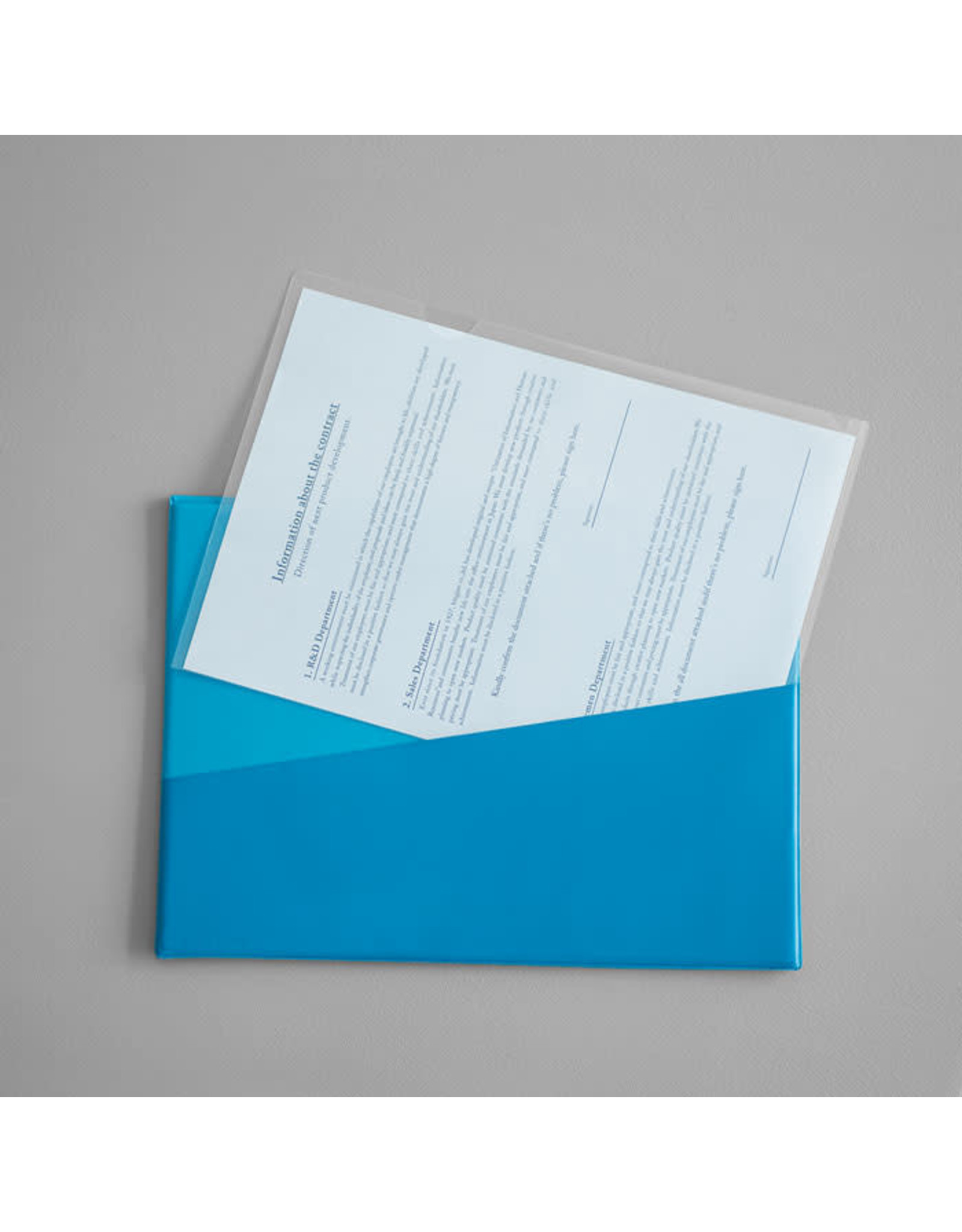 KING JIM CO., LTD. FLATTY CARD LIGHT BLUE