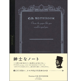 APICA Co., Ltd. PREMIUM CD NOTEBOOK B5 BLANK 96PAGES BLACK