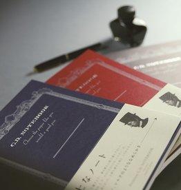 APICA Co., Ltd. PREMIUM CD NOTEBOOK 124MM X 140MM 6.5MM 14 LINE 96PAGES BLUE
