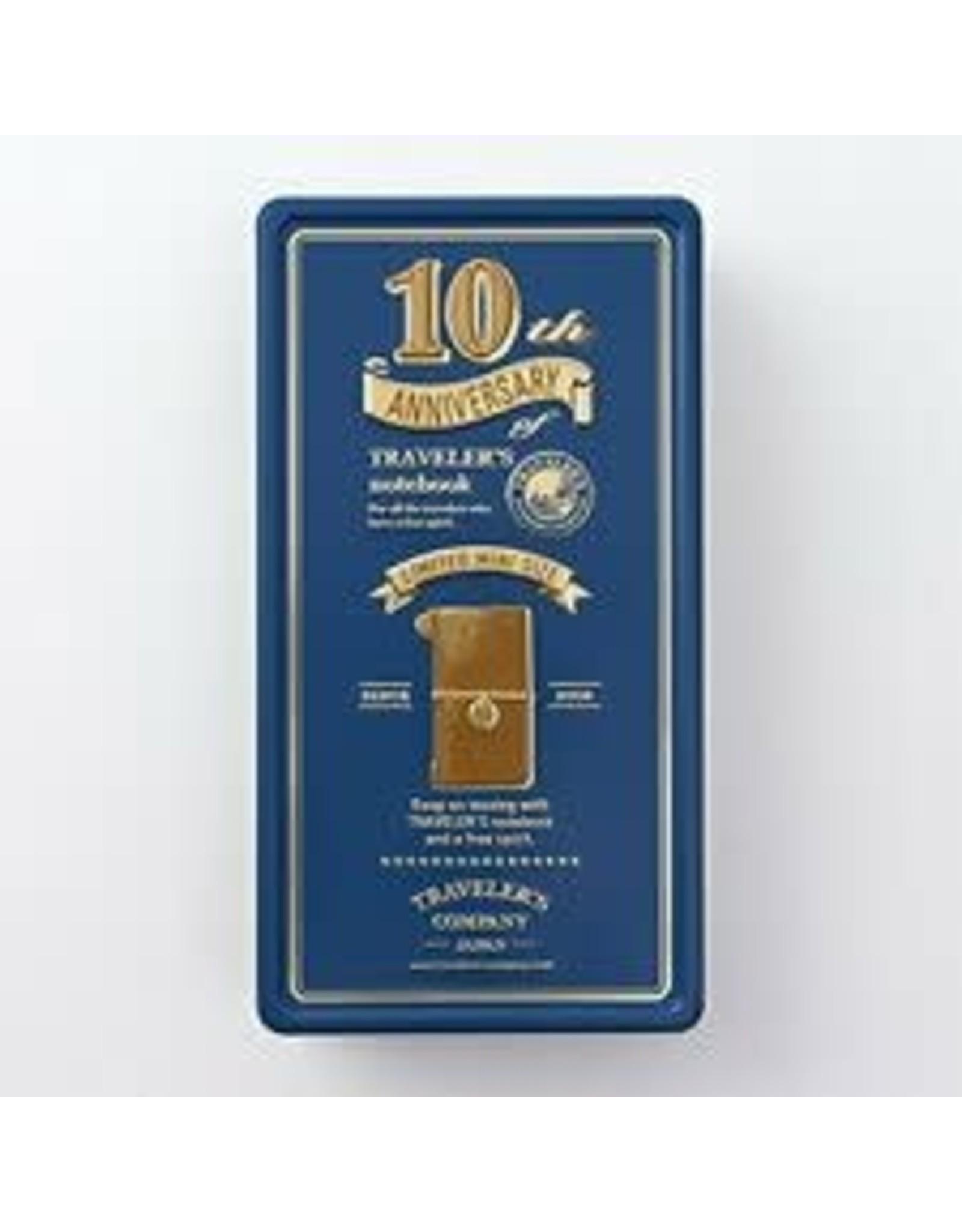 Traveler's Company TRAVELER'S NOTEBOOK MINI 10TH ANNIVERSARY CAMEL