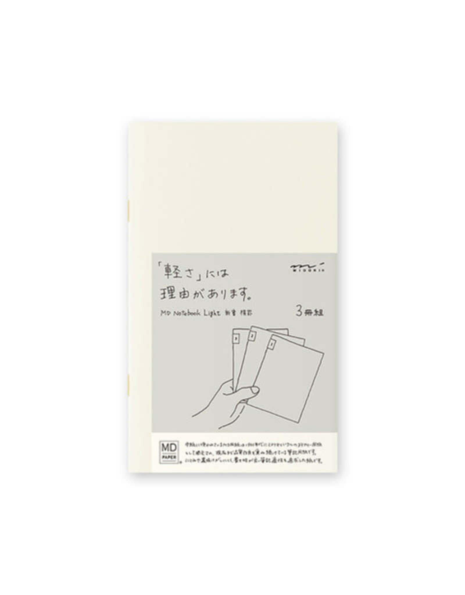 Designphil Inc. MD NOTEBOOK LIGHT  A5 BLANK 3PCS PACK ENGLISH CAPTION