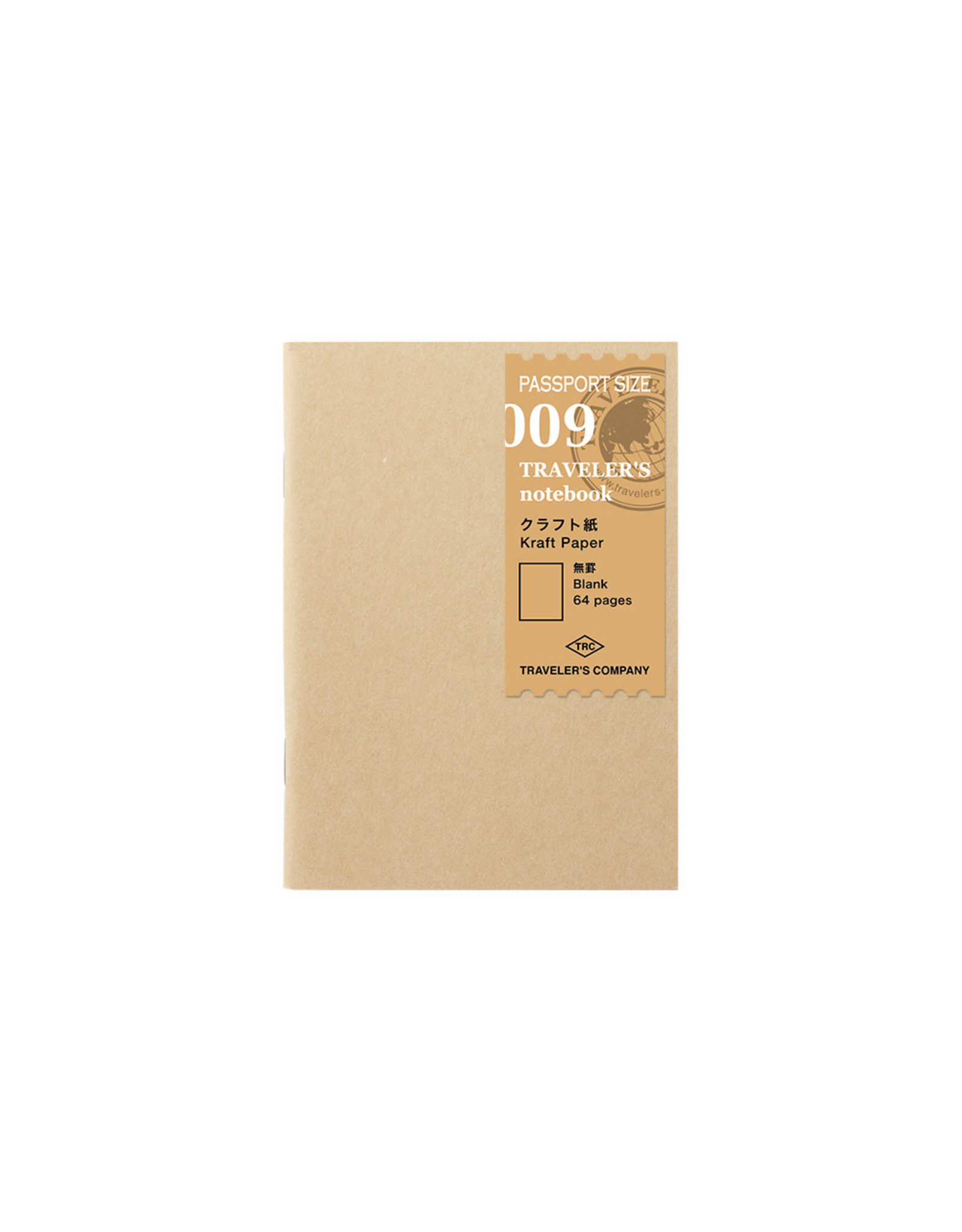 Traveler's Company 009 KRAFT PAPER BLANK 64 PAGES PASSPORT SIZE