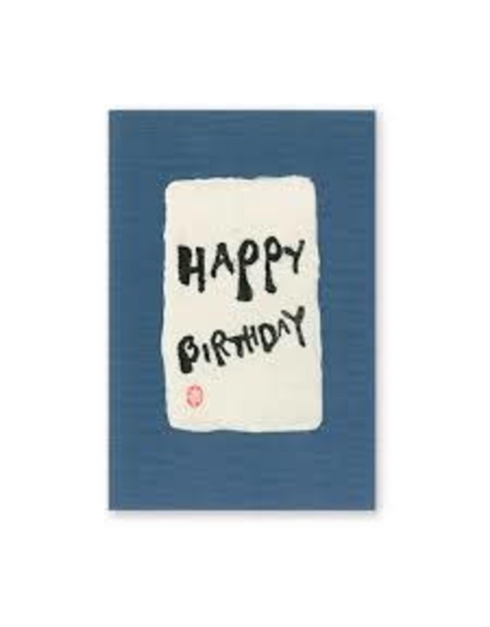 "HYOGENSHA WASHI GREETING CARD ""HAPPY BIRTHDAY"""