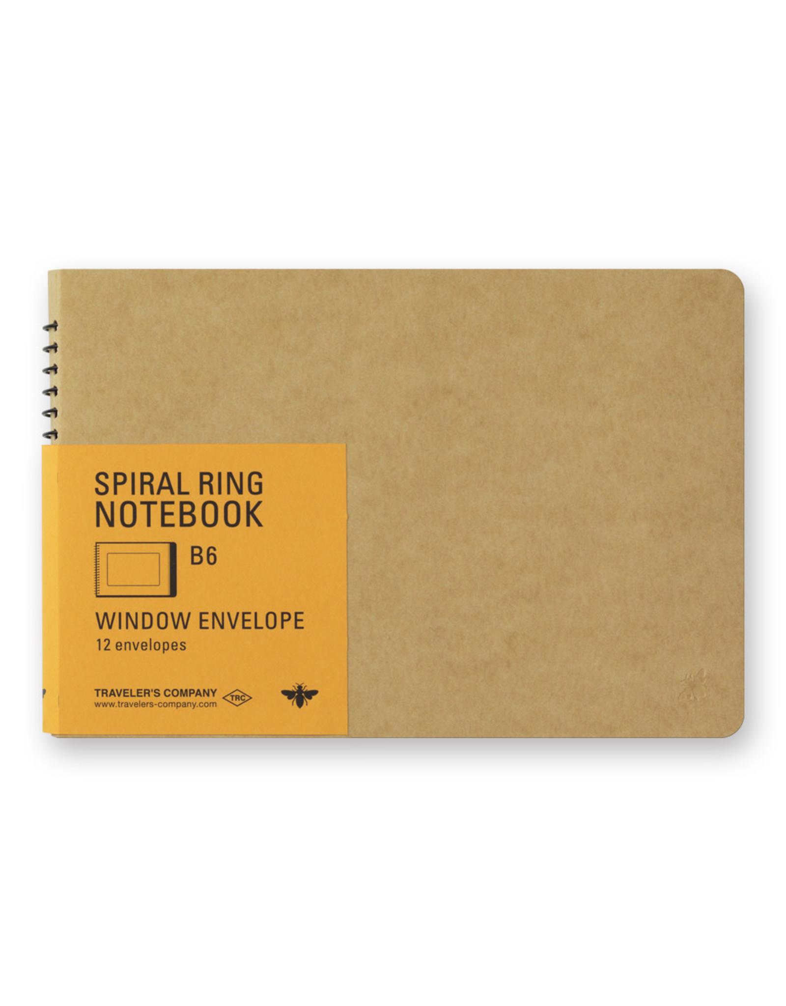 Traveler's Company SPIRAL RING NOTEBOOK B6 WINDOW ENVELOP 12 ENVELOPES